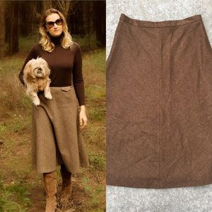 Max Mara Virgin Wool Midi Skirt A Line
